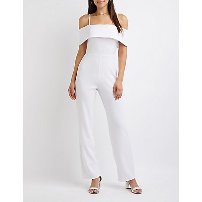 Ruffle-Trim Jumpsuit