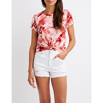 Knotted Tie Dye Tee