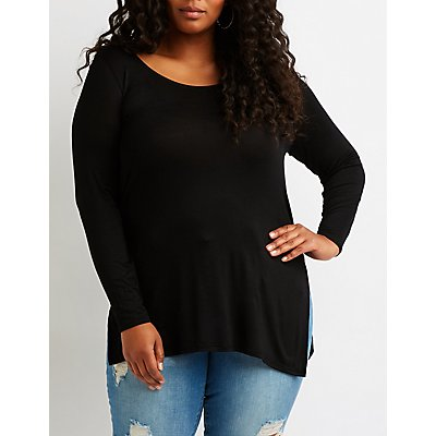 Plus Size High-Low Tunic Top