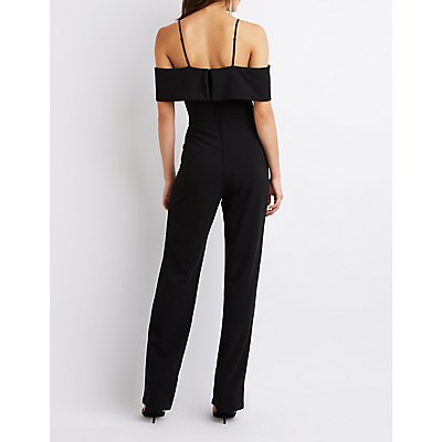 Off The Shoulder Straight Leg Jumpsuit