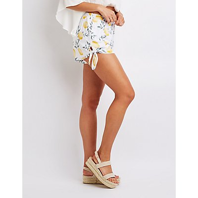Lemon Tie Shorts