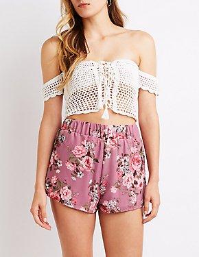 Floral Cheeky Shorts