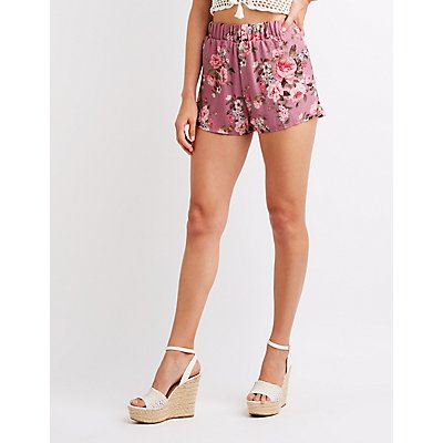 Floral Cheeky Shorts