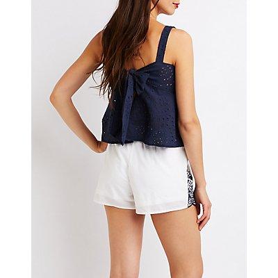 Tassel Tie Front Shorts