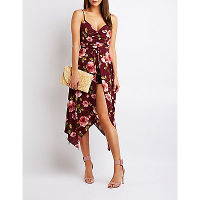 Floral Ruched Maxi Romper
