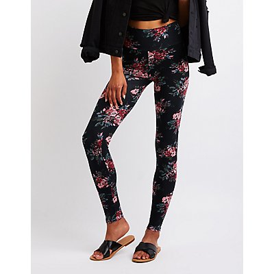Floral High Waist Leggings