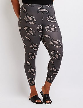 Plus Size Paisley Leggings