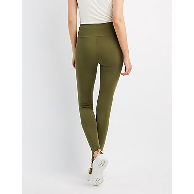 High-Waist Stretch Cotton Leggings