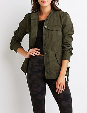 Lace Up Anorak Jacket