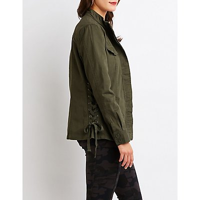 Lace Up Anorak Jacket