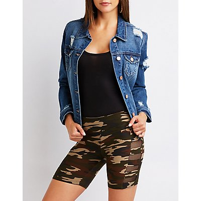 Camo Caged Bermuda Bike Shorts