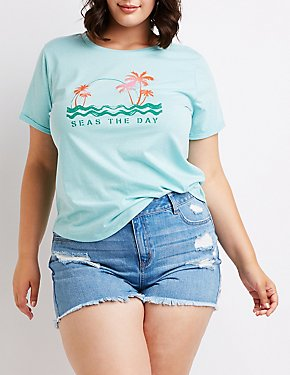 Plus Size Sea The Day Tee