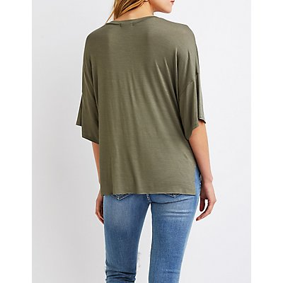 Knotted Oversize Tee