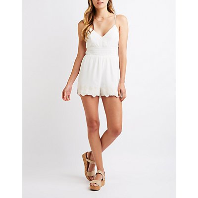 Crochet Trim Romper