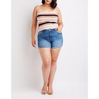 Plus Size Refuge Girlfriend Shorts