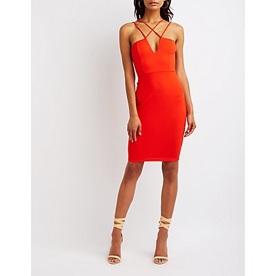 Strappy Midi Bodycon Dress