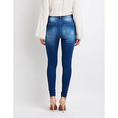 Hi Rise Skinny Jeans
