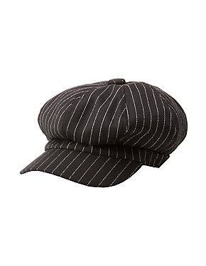 Striped Newsboy Cap