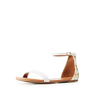 Pineapple Ankle Strap Sandals