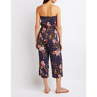Floral Strapless Jumpsuit