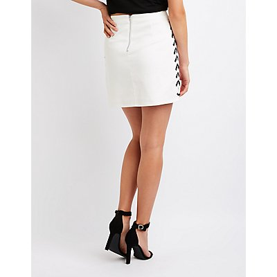 Lace Up A-Line Skirt