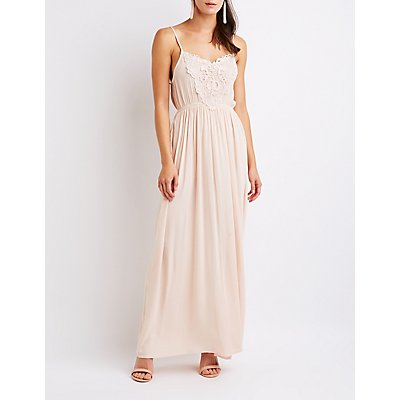Crochet Trim Maxi Dress by Charlotte Russe