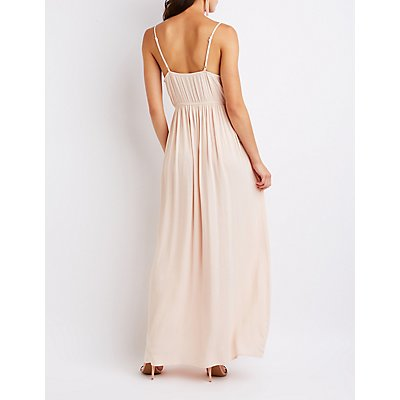 Crochet Trim Maxi Dress