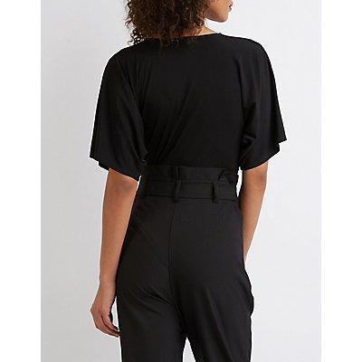 Flutter Sleeve V-Neck Bodysuit