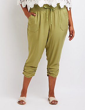 Plus Size Smocked Beach Pants
