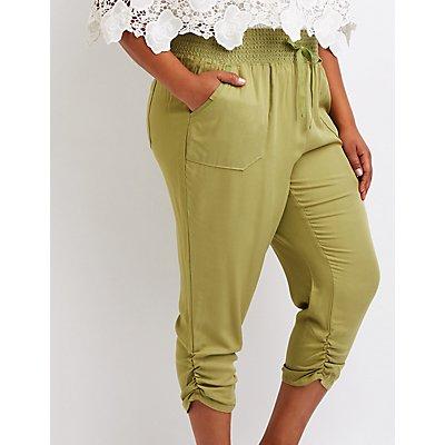 Plus Size Smocked Beach Pants