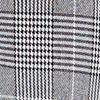 Plaid Ruched Sleeve Blazer