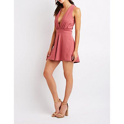 Plunging V-Neck Romper