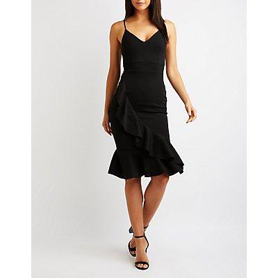 Ruffle Midi Dress