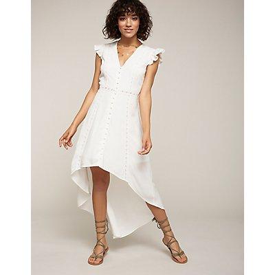 Button Up Hi Low Maxi Dress