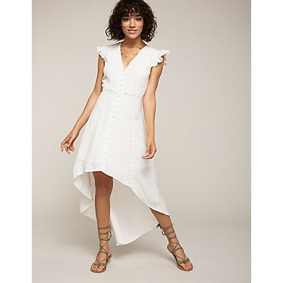 Button Up Hi Low Maxi Dress | Tuggl