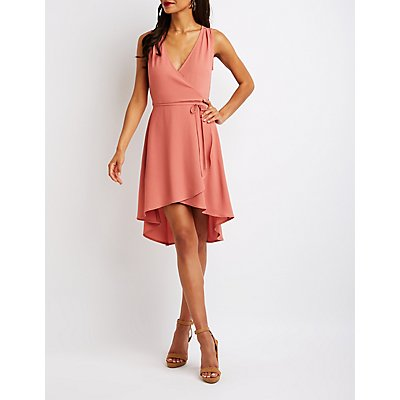 Wrap Hi Low Dress
