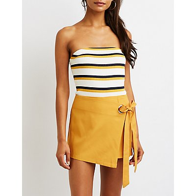 Tie Side Skort by Charlotte Russe