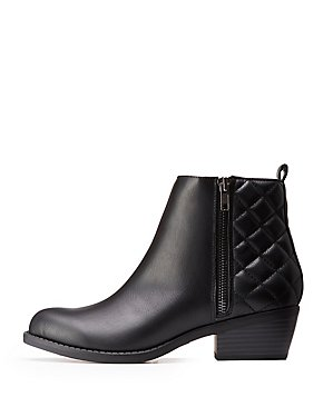 Quilted Ankle Booties