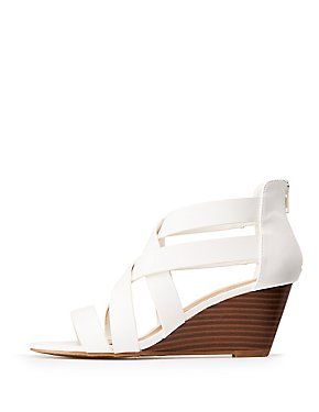 49257c776d5 Crisscross Wedge Sandals