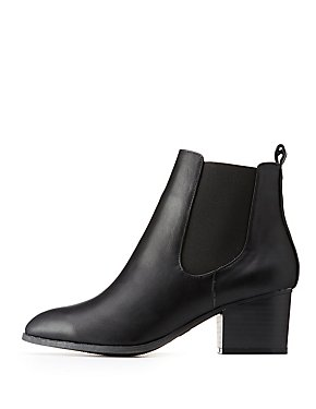 Classic Faux Leather Booties