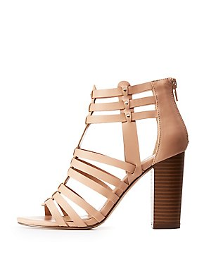 Caged Studded Dress Sandals