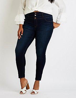 Plus Size Refuge Hi Waist Skinny Jeans