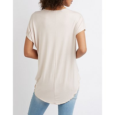 Hi Low Wrap Top