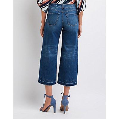 Destroyed Wide Leg Jeans