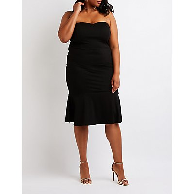 Plus Size Sweetheart Bodycon Dress