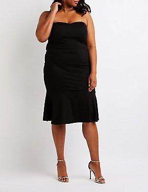Plus Size Sweetheart Bodycon Dress