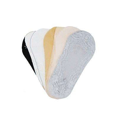 Lace Trim Shoe Liners - 5 Pack