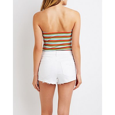 Stripe Strapless Bodysuit