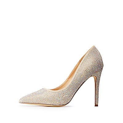 Rhinestone Pointed Toe Pumps