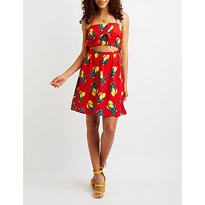 Lemon Cut Out Halter Dress